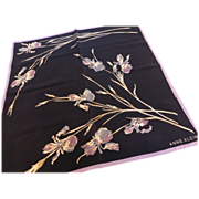 Vintage Anne Klein Silk Iris Scarf