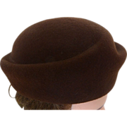 Vintage French Coustilleres Stylized Bowler Felt Hat