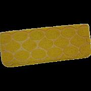 Yellow Beaded Silk Evening Clutch by Moyna New York