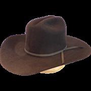 Vintage Bailey Mustang Beaver Fur Hat Black 6 3/4