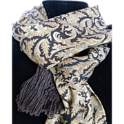 SOLD Vintage Classiques Entier Silk Fringed Paisley Scarf