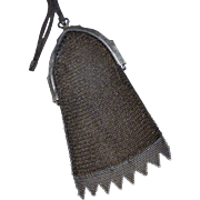 Antique German Silver Mesh Purse Evening Bag