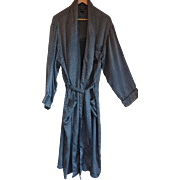 Vintage Men's Intimo Silk Dressing Gown / Lounge Robe Size LARGE