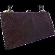 Vintage 1940's Brown Corde' Handbag Purse