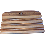 Vintage Earl Gresh Wooden Clutch Purse