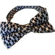 Vintage 1980's Classic Silk Bow Tie - Adjustable