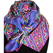 Italian Silk Paisley Scarf