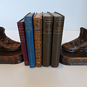 Copper Bronzed Antique Baby Shoe Bookends