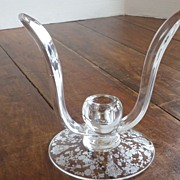 Cambridge Rosepoint Pattern Winged Candlestick Candle Holder