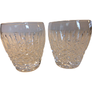 "Waterford Crystal ""CASTLEMAINE"" Old Fashioned Glasses Pair"