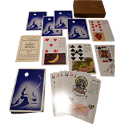 Vintage Gypsy Witch Fortune Telling Playing Cards Complete Set Original Box