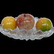 1950's Italian Alabaster Stone Fruit