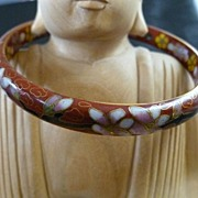 Vintage Cloisonné Bangle Bracelet