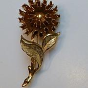 Vintage Big Emmons Signed  Floral Brooch