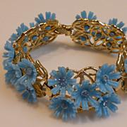 Vintage Plastic Flower Bracelet