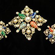 Vintage Sarah Coventry Brooch & Earrings Set