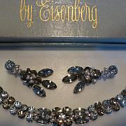 Lavish Dazzling Eisenberg Bracelet & Earrings Demi-Parure in Original Box