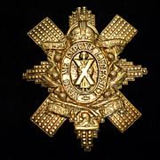 SOLD Vintage Metal Scottish Black Watch Crest Badge