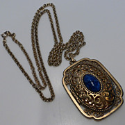 Vintage Avon Filigree Locket Necklace