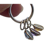 Vintage Sterling Silver Semi-Precious Stone Pendant Necklace