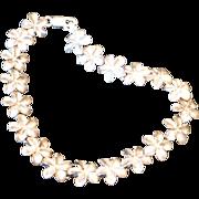 Vintage Sterling Silver Plumeria Flower Bracelet Signed PCU