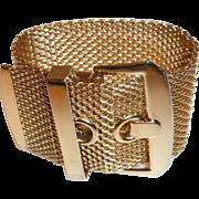 Vintage Gold Mesh Buckle Bracelet