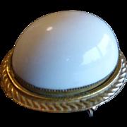 Vintage ORIGINAL By ROBERT Large Lucite Egg Pendant Brooch