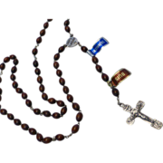 Lourdes France Boxwood Bead Rosary Ave Maria