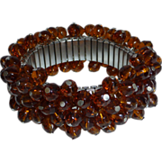 Vintage Root Beer Crystal Cha Cha Expansion Bracelet