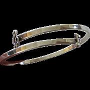 """Vintage Leonore Doskow Sterling Silver  Bracelet """"Musical Symbols """" Signed"""