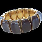 Gold Tone Enameled Expansion Stretch Bracelet