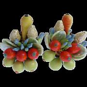 Vintage Fruit Cocktail Earrings Western Germany