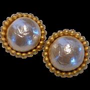Vintage Georgiou Studio Faux Baroque Pearl Earrings
