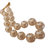 Vintage CAROLEE Jumbo Faux Pearl Necklace