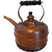 SOLD Copper Simplex Coil Base Whistling Water Kettle Pot England