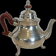 Kirk Stieff Pewter Colonial Williamsburg Wood Handle Coffee Tea Pot