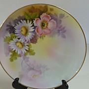 Vintage Noritaki Plate Hand Painted, Signed