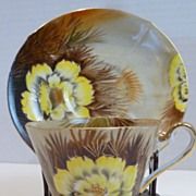 "Vintage Norcrest China ""Wild Cactus"" Cup and Saucer"