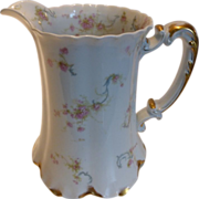 French Haviland Limoges Large Water Pitcher Princess Pattern 8""