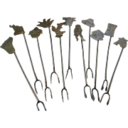 Vintage Sterling Silver Mexico Hors D'oeuvre Cocktail Picks Set of 11