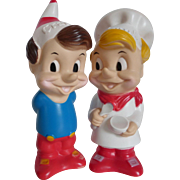 Vintage Kellogg's Snap & Crackle Rubber Dolls