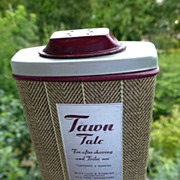 "Vintage Men's ""Tawn Talc"" Tin w/ Herringbone Unused 1940's"