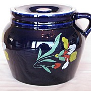 Hall China Blue Blossom Bean Pot, New England #4