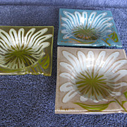 Higgins Fused Glass Ashtrays