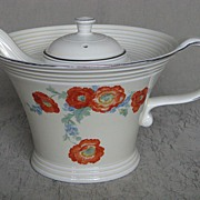 Hall China Orange Poppy Melody Teapot
