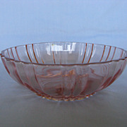 Depression Glass Pink Old Cafe Cereal Bowls