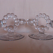 Imperial Glass Candlewick Two Lite Candlesticks