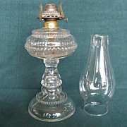 Rib And Bead Rings Oil Lamp