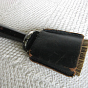 Vintage Travel Size Clothes Brush with Leather Sheath