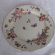 """Lefton China Hand Painted Spring Bouquet Butterfly 9"""" Plate"""